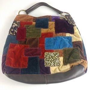 Vintage Lucky Brand Patch Bag Multi-color Purse